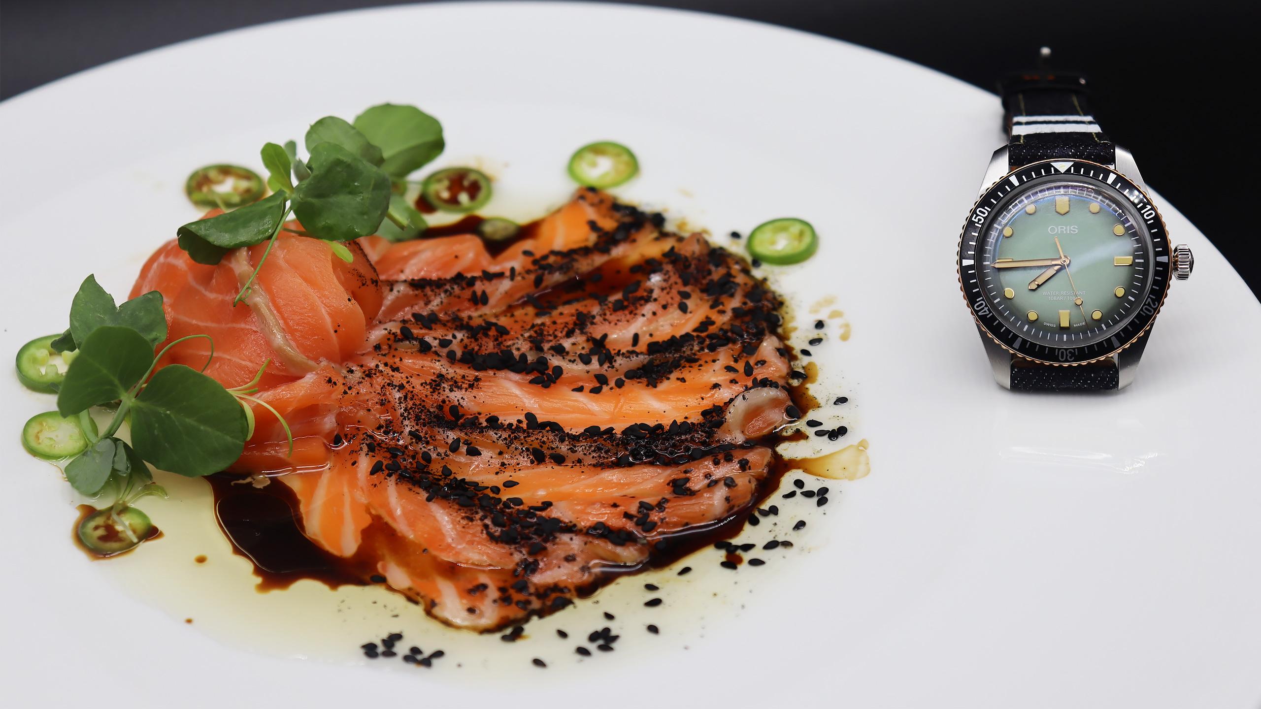 oris-maridaje-gastronomía y relojes