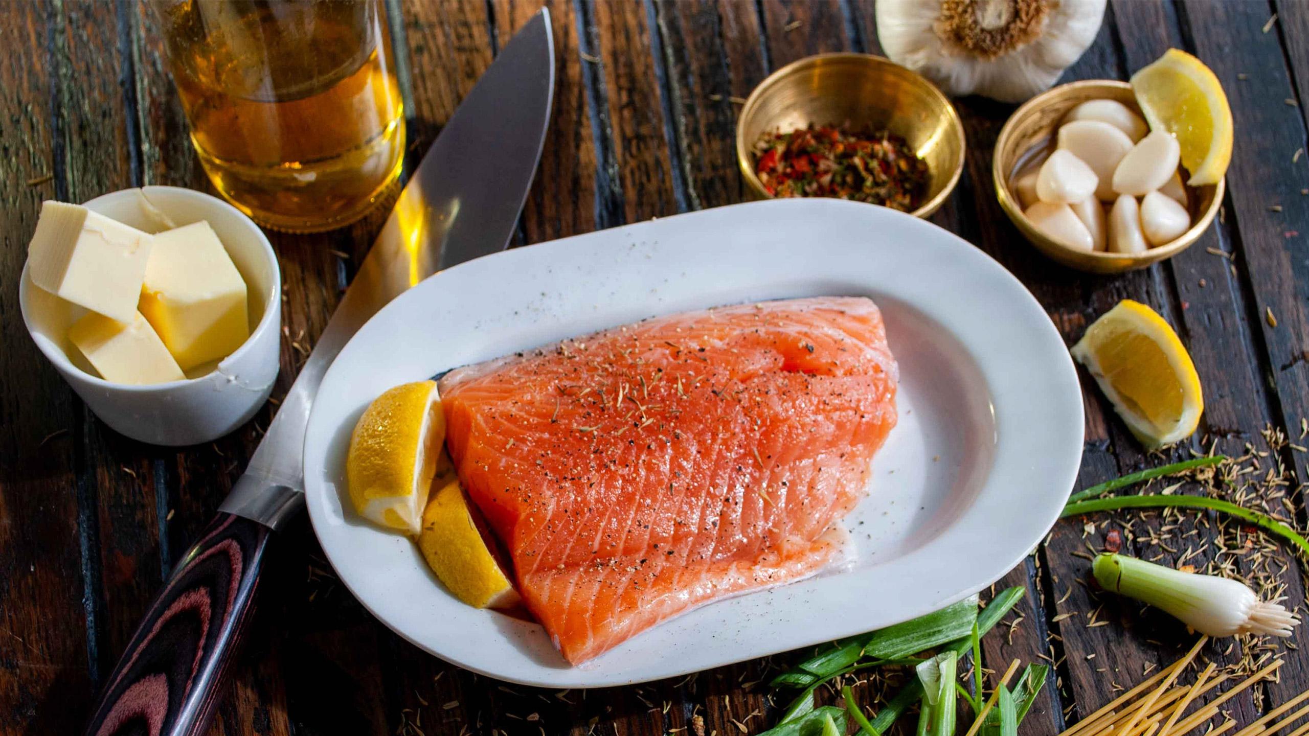 salmon keto, cena navideña, navidad
