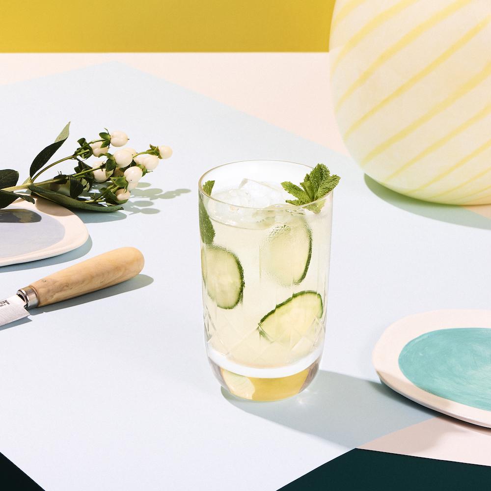 Cocteles bajos en calorías-Cointreau cucumber mint