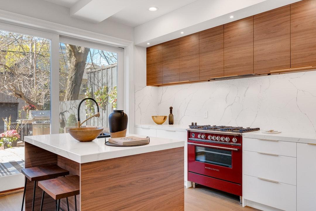 Tendencias en cocina-madera y mármol