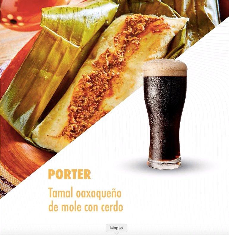 maridaje de tamales con cervezas-porter con tamal oaxaqueño