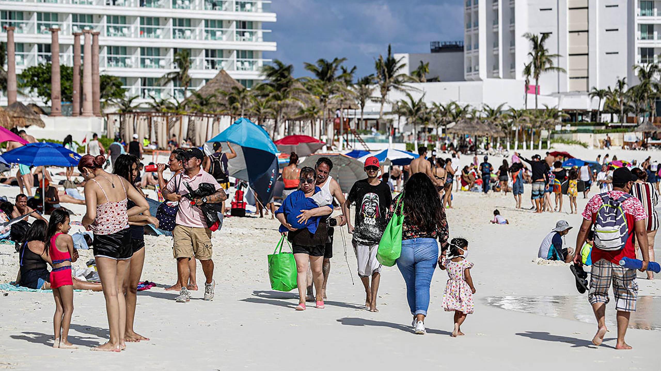 vacaciones, Caribe mexicano, repunte de contagios