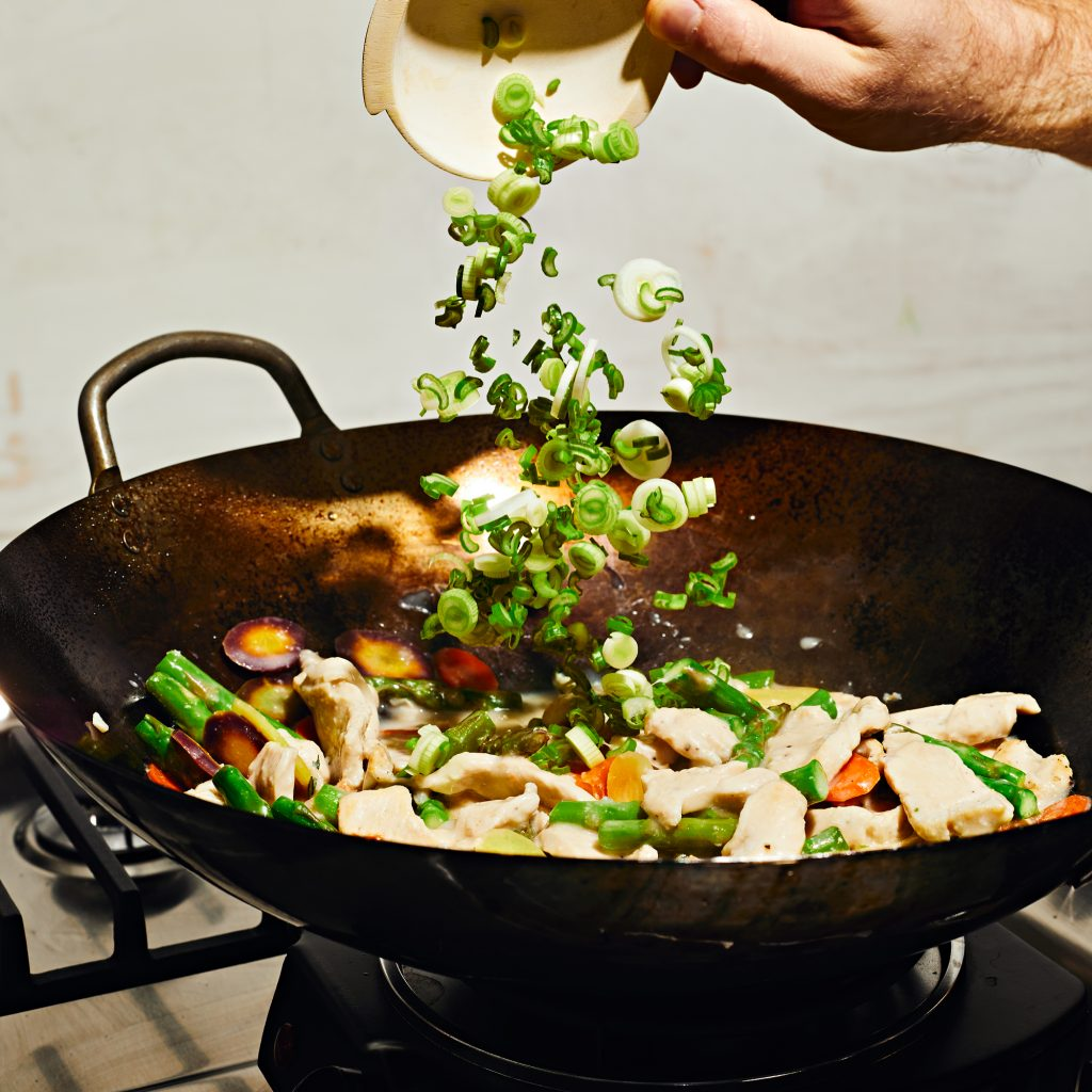 wok-cebolla