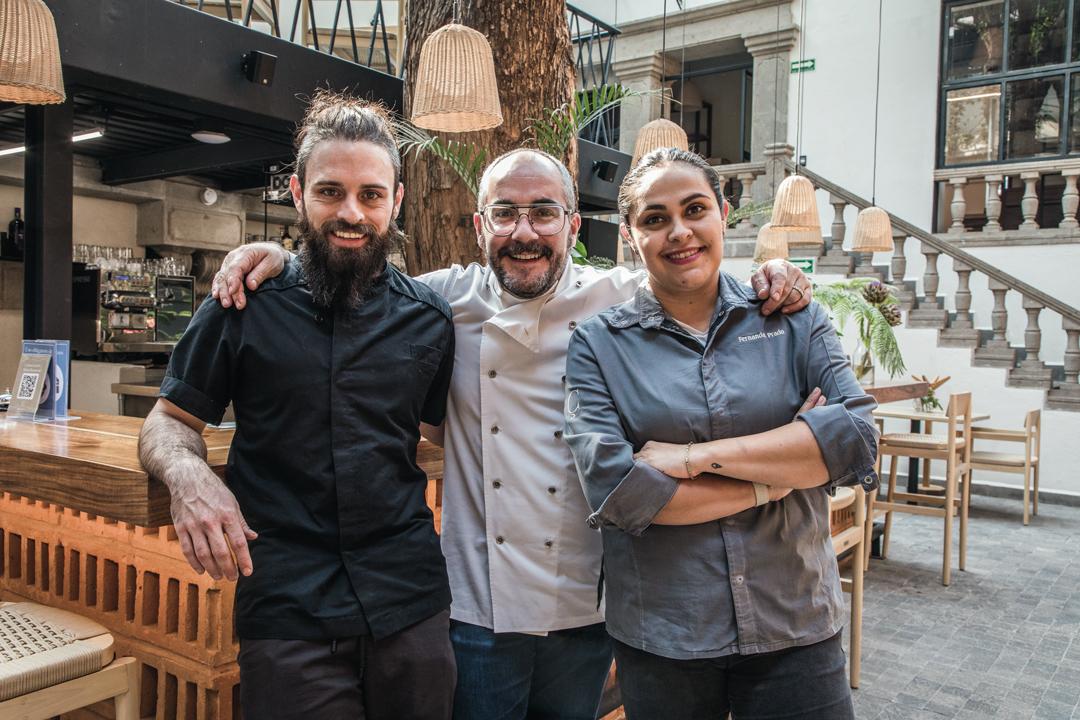 Diego Niño, Xano Saguer y Fernanda Prado / Foto: Juan Pablo Espinosa