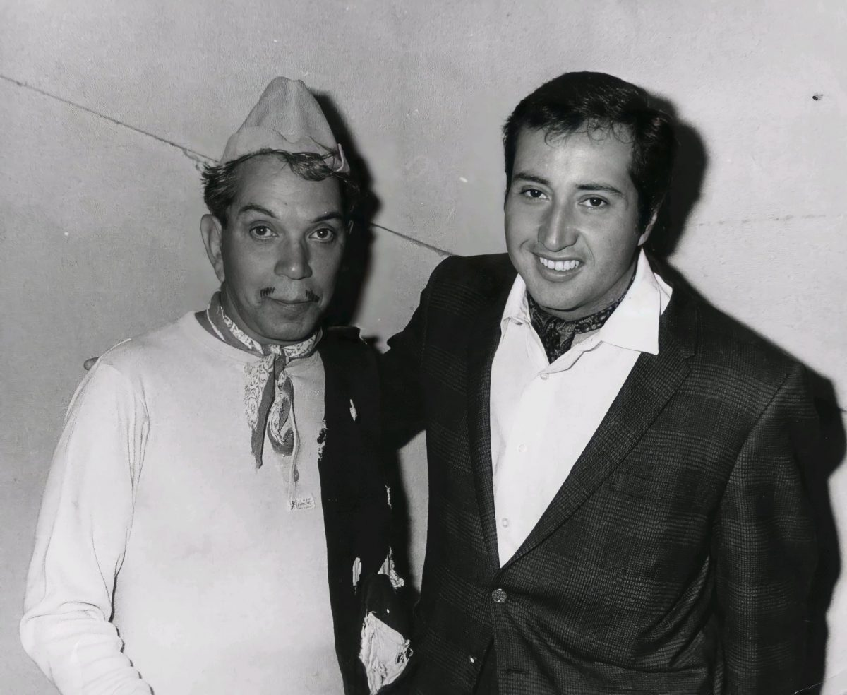 Chucho Arroyo y Mario Moreno Cantinflas